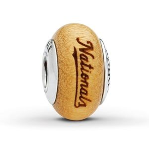 Washington Nationals Pandora Wood Charm Baseball